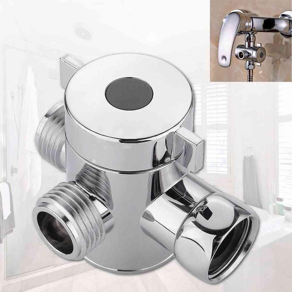 1/2 Inch, Abs Chrome-3 Way Shower Diverter Hose,  T Shape Adapter