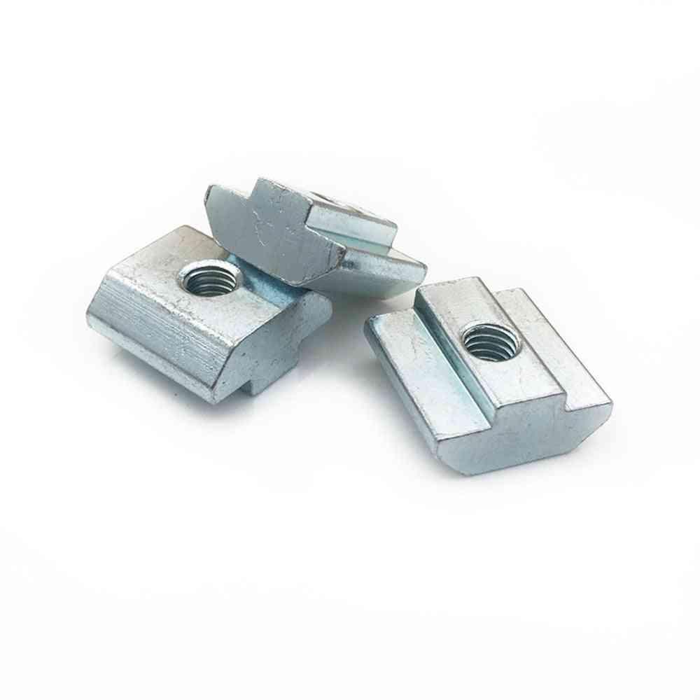 T Type Square Nuts- Aluminum Profile, Zinc Coated Plate