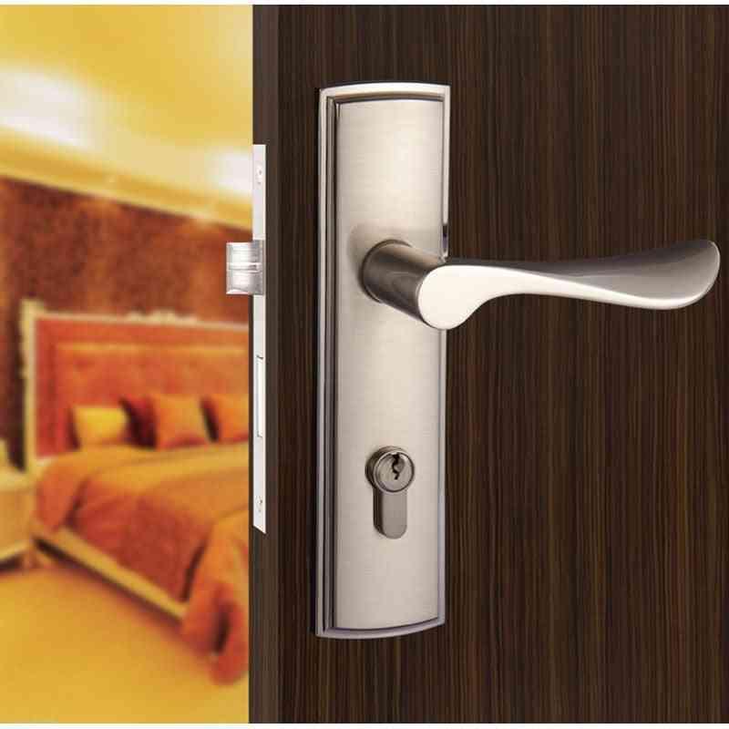 Electroplated, Aluminum Door Lock Handle