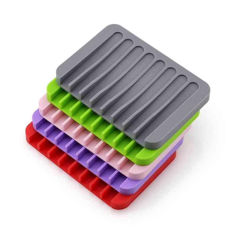 Silicone Flexible Soap Dish Plate -holder -box