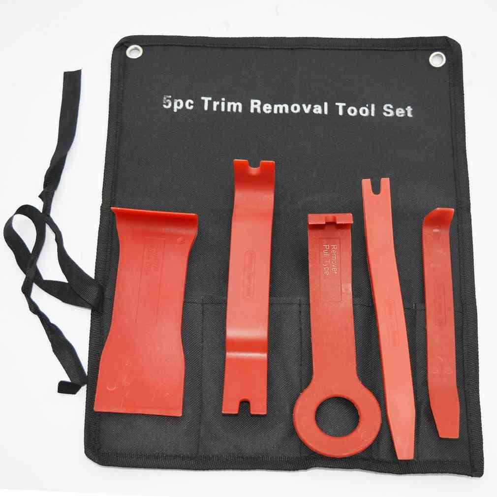 5pc Trim Removal Tool Set-car Audio Navigation Cd/dvd Installation Kit