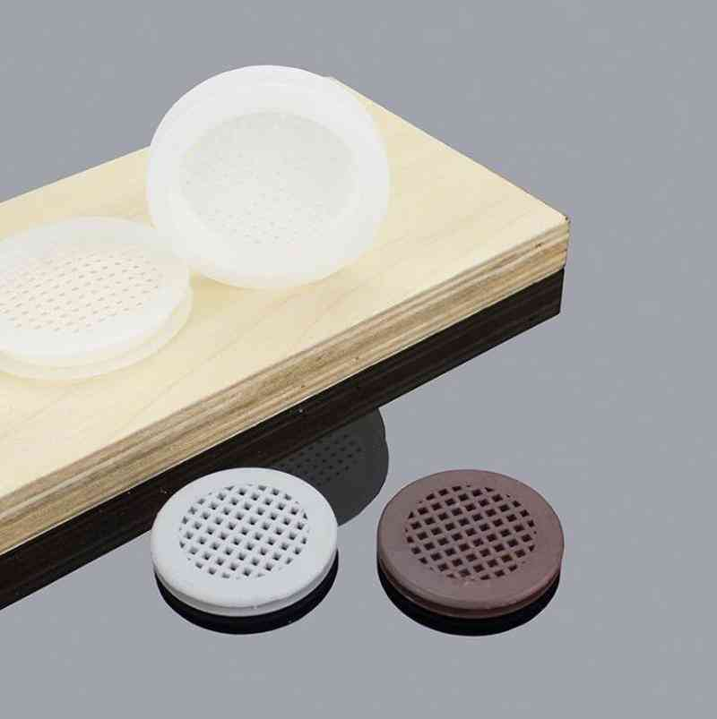 Double-sided Plastic Air Vent Covers Round Mesh Hole Louver Ventilation For Cabinet Shoe Closet Furniture Accessories