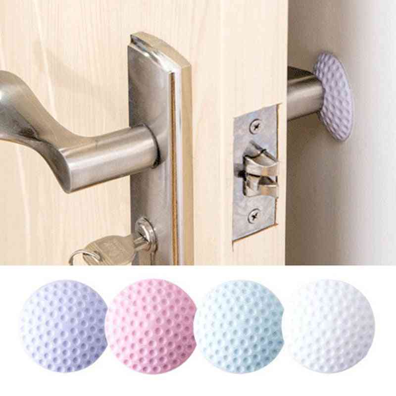 Silicone Rubber Door Stopper, Self Adhesive Wall Protector