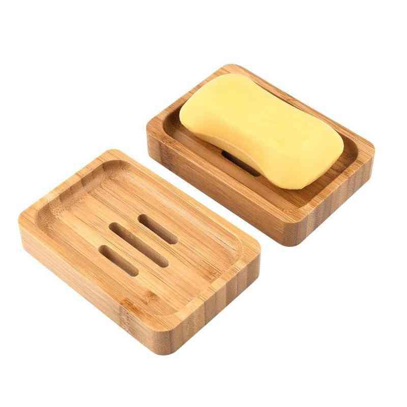 Handmade Wood Bamboo Soap Dish Tray Case