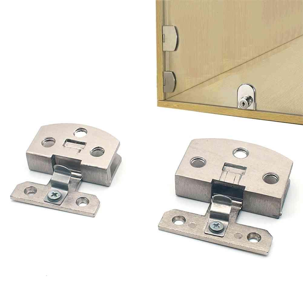 2pcs  Glass Door Hinge-no Drill