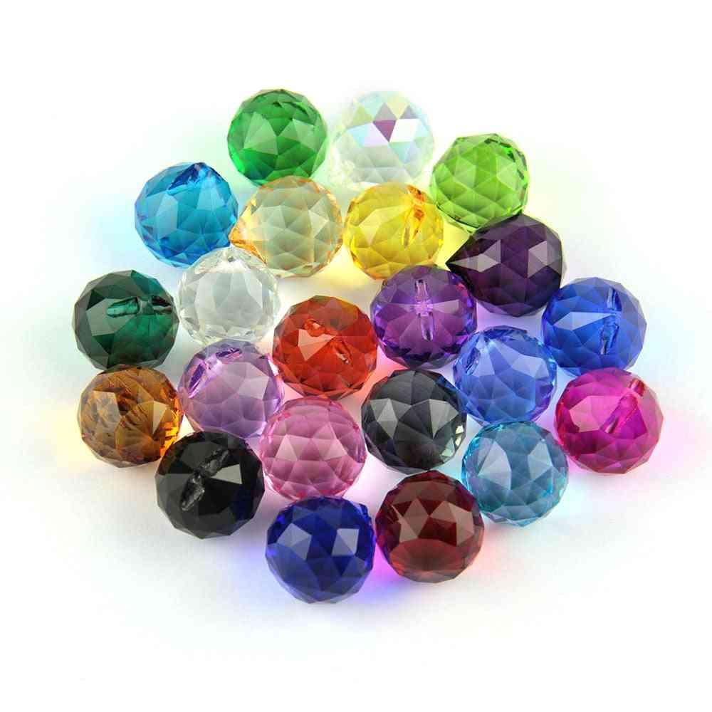 Chandelier Crystal Glass Cut-faceted Balls 10pcs For Pendant Lamp Lighting Part Home Decoration