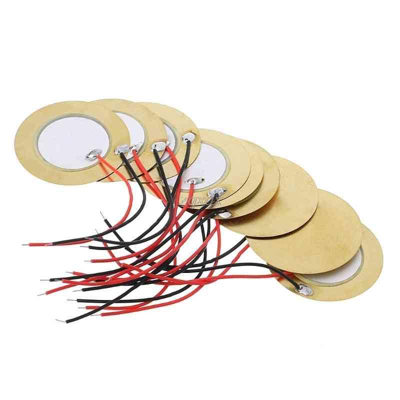 Piezo Elements Buzzer Sounder Sensor Trigger Drum Disc + Wire Copper