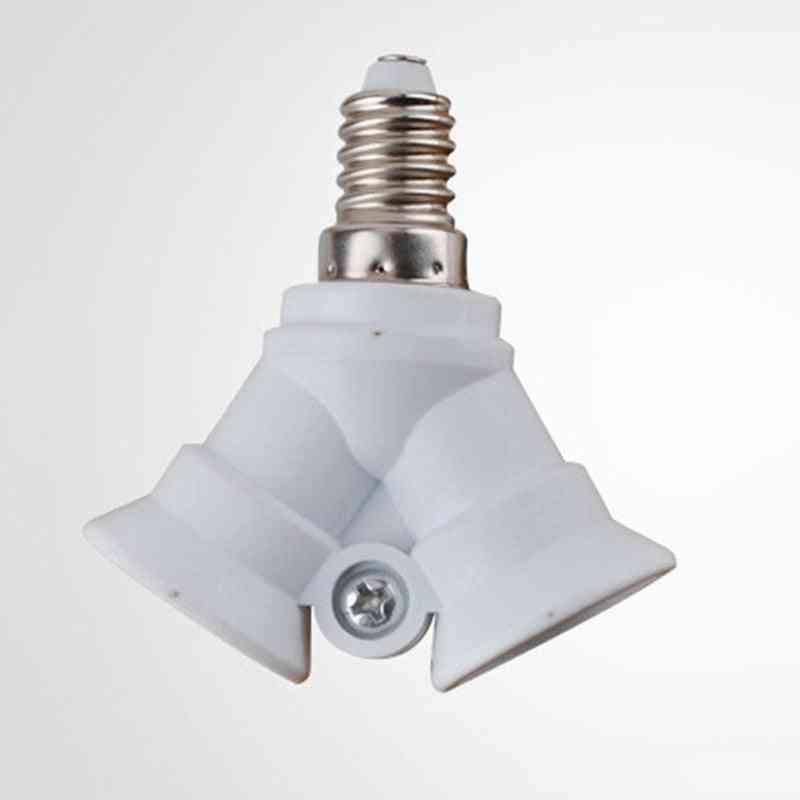 2 In1 Lamp Socket, Base Double E14 Adaptor Converter