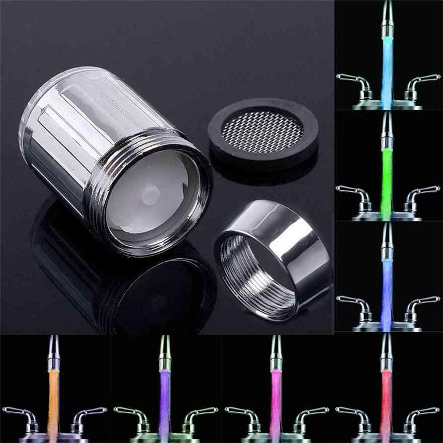 Romantic 7 Color Change Led Faucet Light Shower Head
