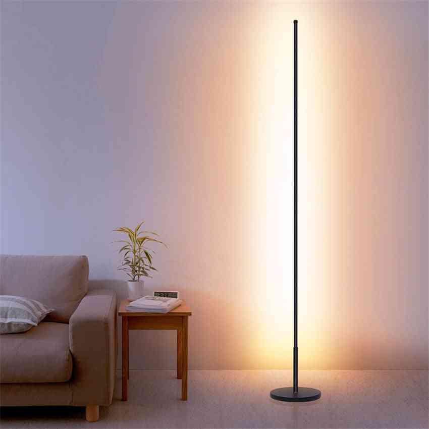 Nordic Minimalist Led Floor Lamps -standing Lamps For Living Room Led Black/white Aluminum