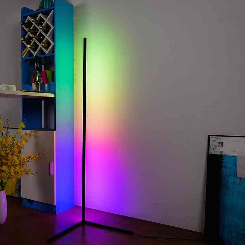 Nordic Rgb Corner Floor Lamp ,modern And Simple Led Rod  For Home