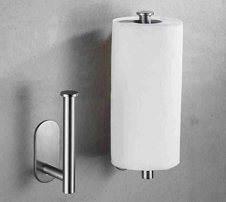 Stainless Steel Wall Mount - Bathroom Tissue / Towel Rack Holder