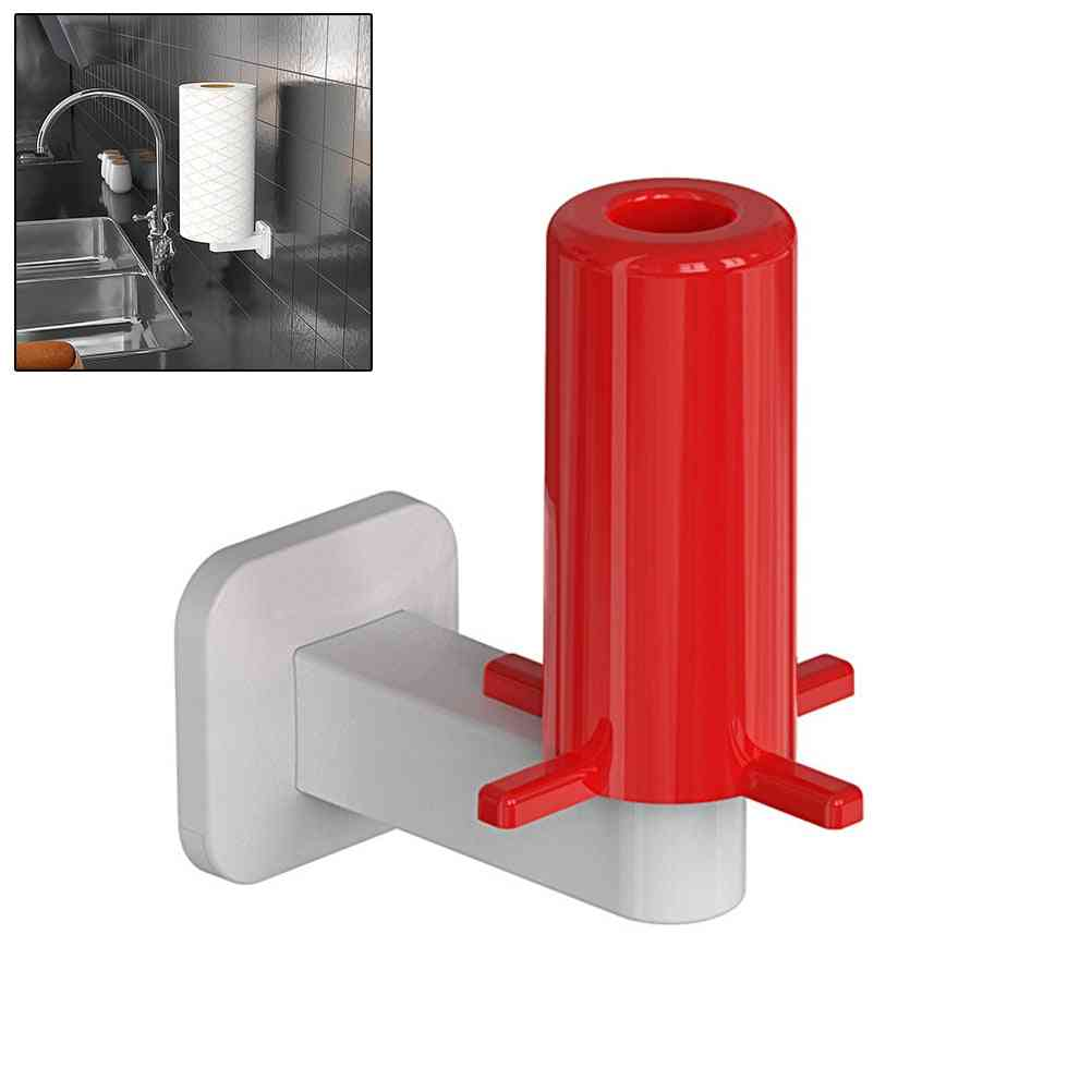 Wall Mount, Adhesive, No Drilling - Tissue Paper / Towel Holder