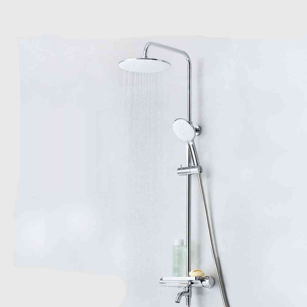 Stainless Steel, Thermostatic Handheld Shower Head Set With 6 Modes