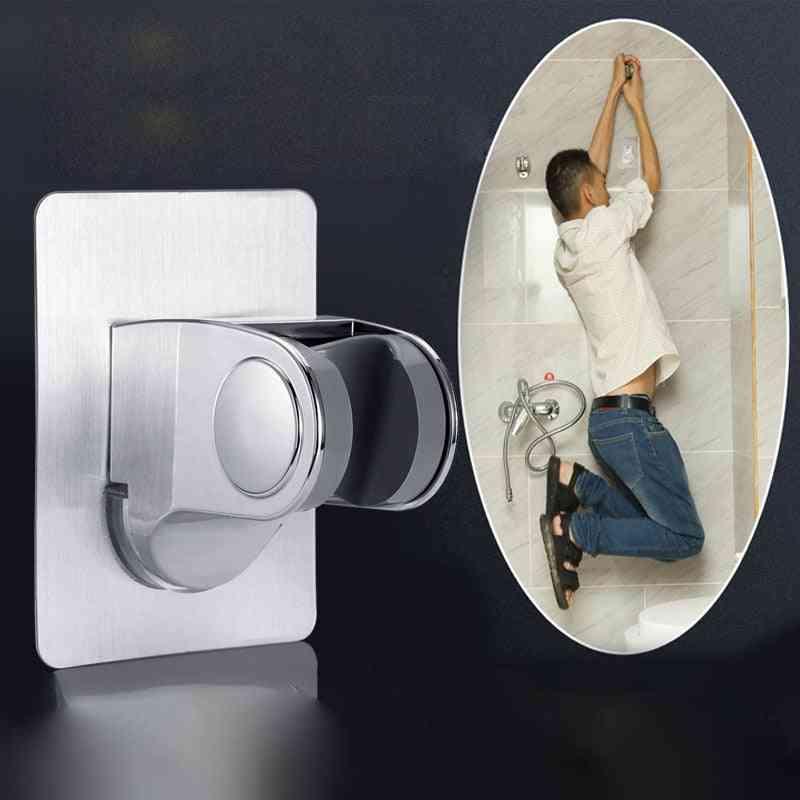 Adjustable Self Adhesive Handheld - Wall Mounted Showerhead Holder