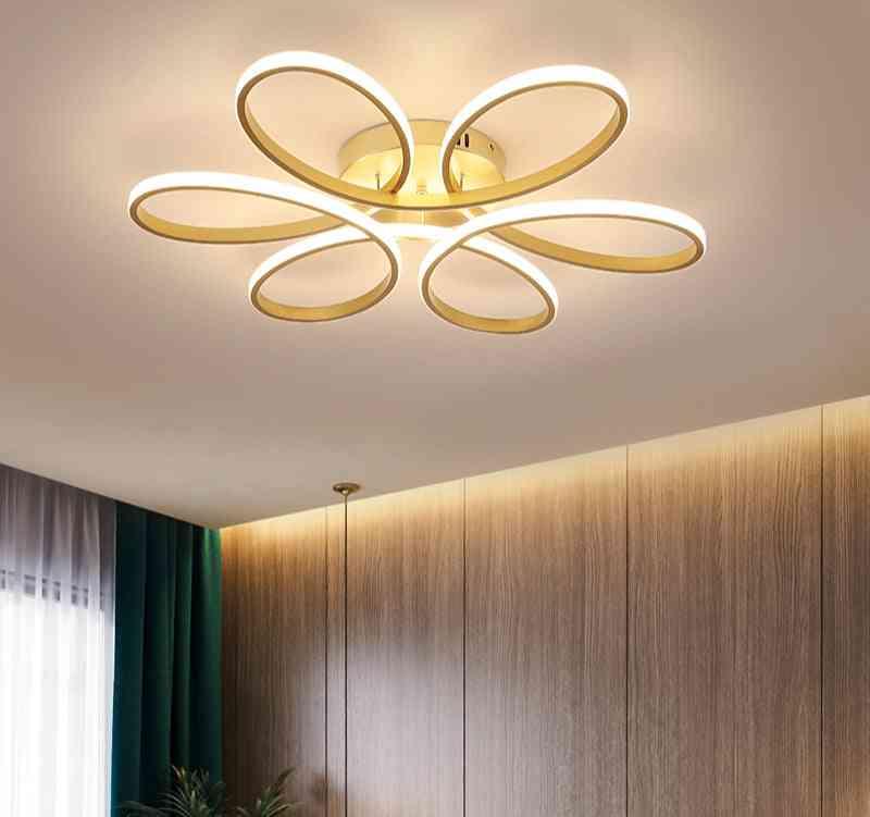 Modern Led Chandelier Lighting For Living-room /bedroom, Indoor Lamp Remote-control Lustre Chandelier Lamp Ac90v-260v Lampadario