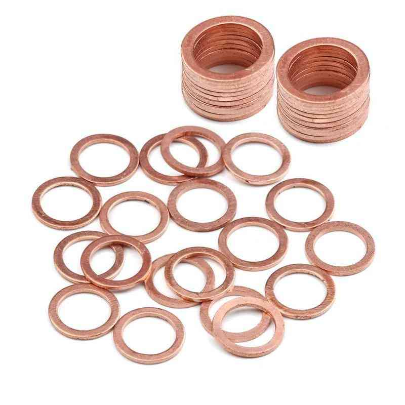 Solid Copper Washer- Flat Ring Gasket