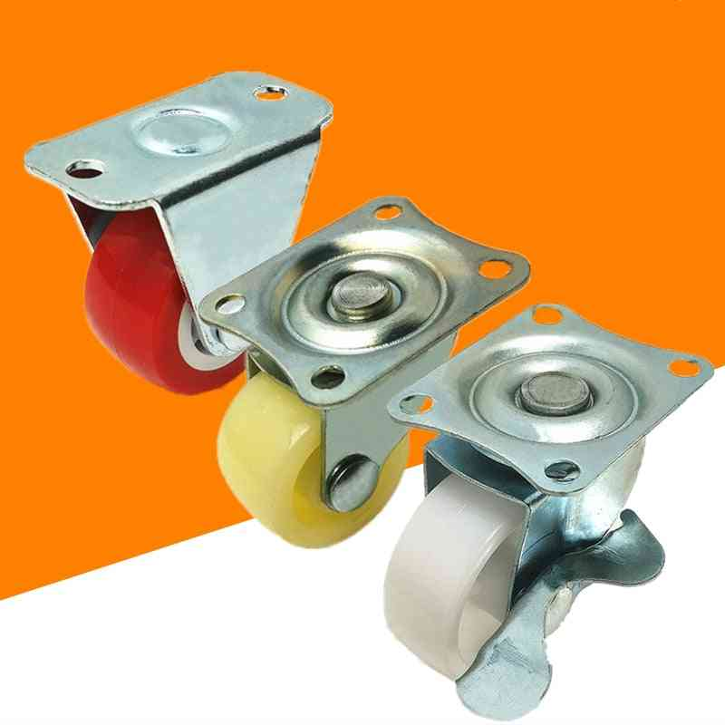4pcs/lot Pp Nylon Fixed Caster Wheel For Platform Trolley Chair