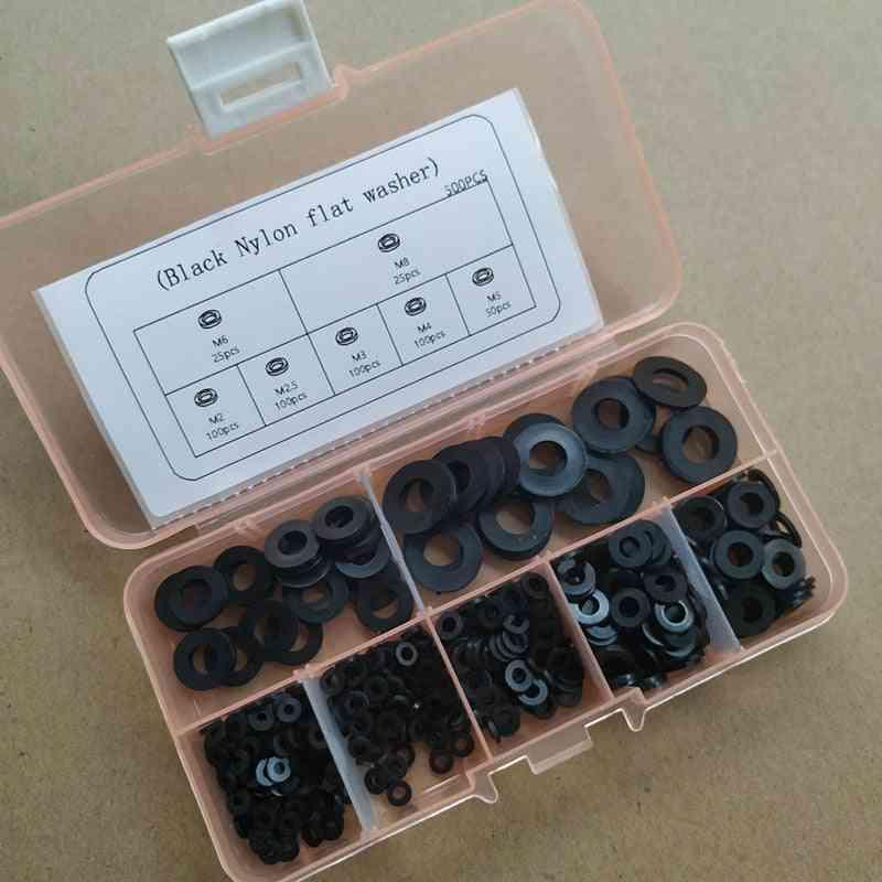500pcs/set Nylon Flat Washer Kit