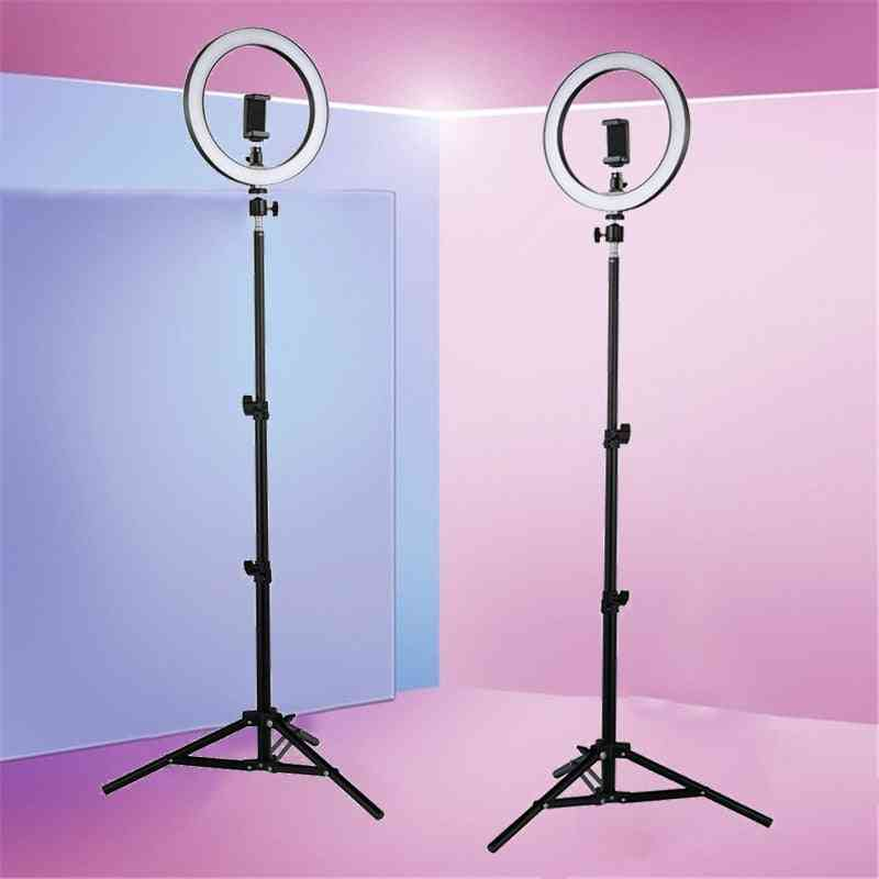 Led Selfie Ring Light, Studio Photography Fill Lamp With Tripod
