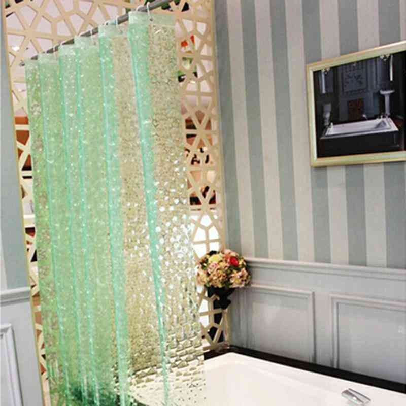 Waterproof 3d Thickened, Shower Curtain With Hooks