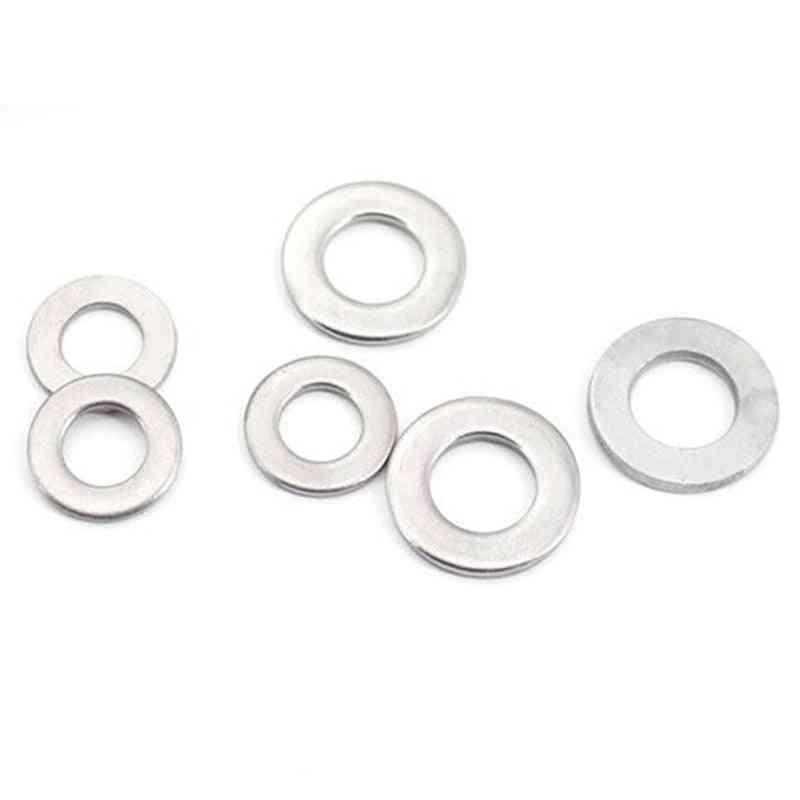 Stainless Steel Flat Plain Washer Gaskets - Assortment Kit