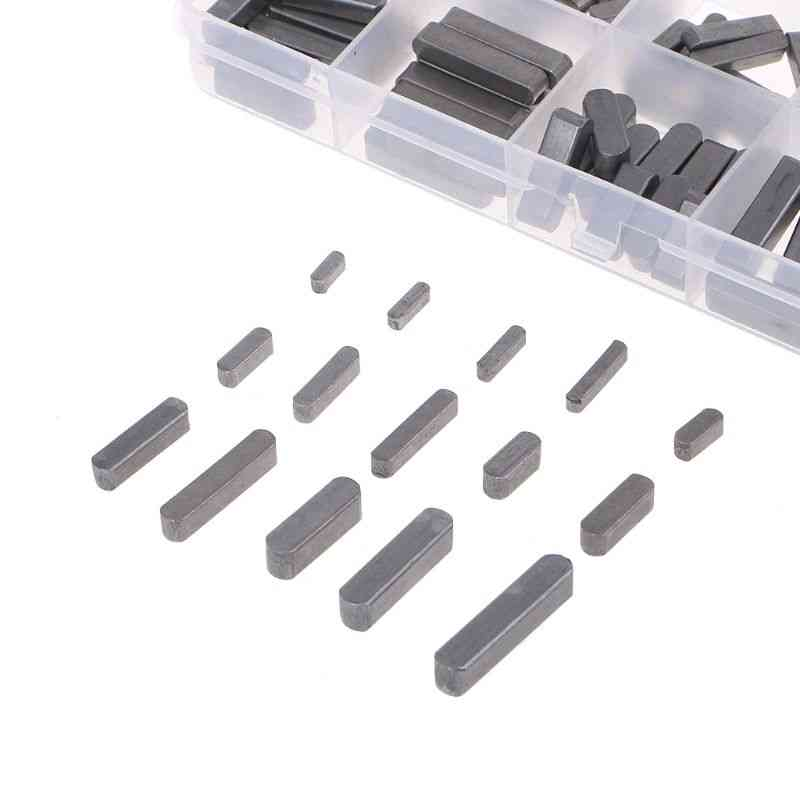 140pcs Round Ended Feather Parallel Drive Shaft Keys Set