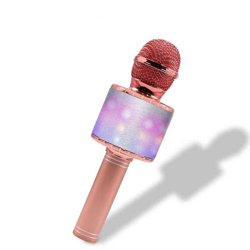 Led Lights Wireless Professional Bluetooth Microphone Studio Player, Singing Recorder