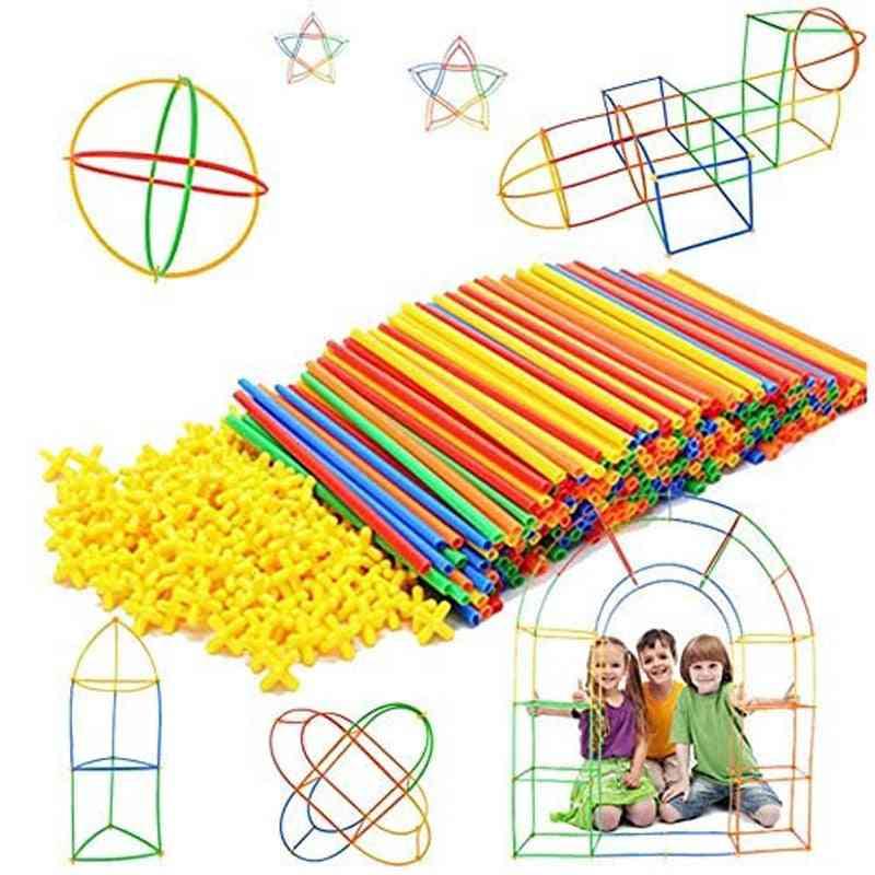 Plastic Straws Building Blocks Construction - Spatial Thinking Games