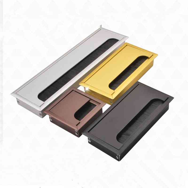 Rectangular Aluminum Alloy Desk Wire Hole Cover/cable Organizer