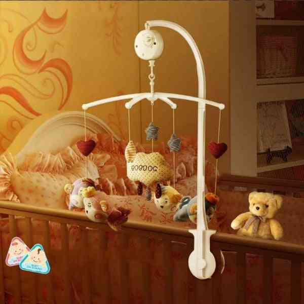 Baby Bed-rattle Bell Toy Holder - Clip Crib Rail