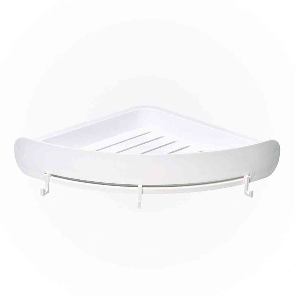 Plastic Bathroom Snap Up Corner Shelf - Storage Wall Holder