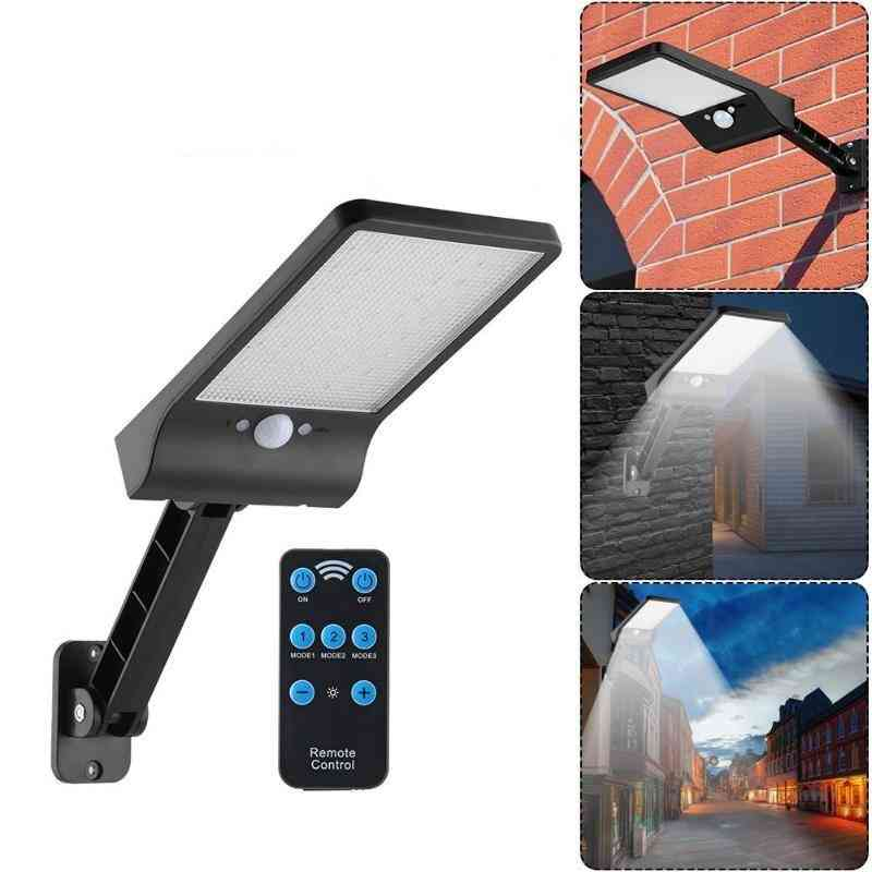 56 Led Solar Motion Sensor Wall Light - Outdoor Street Lamp With Remote Control