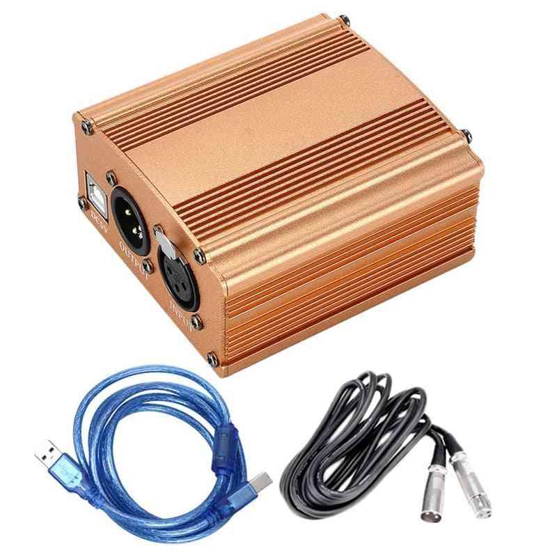 Dc5v-phantom Power Supply, Usb 2.0 Mini Microphone Condenser- Recording Equipment