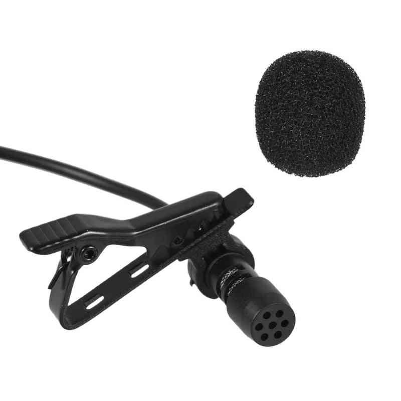 Mini Portable Microphone Condenser Clip-on Lapel