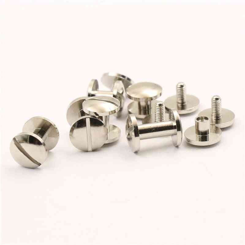 Cupronickle Binding Screws Nail, Stud, Rivets For Photo Album, Belts, Cases Straps And More