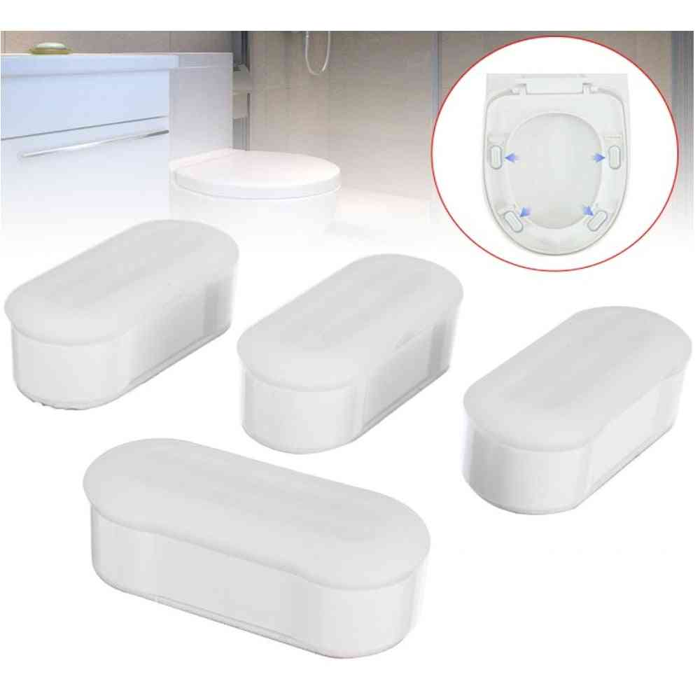 4-pieces Universal Toilet Seat, Bumper Protection Pads