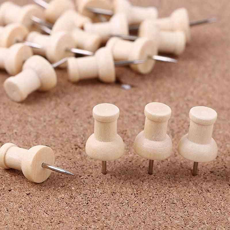 Wooden Thumbtack Drawing Push Pins For Photo Wall Soft Board
