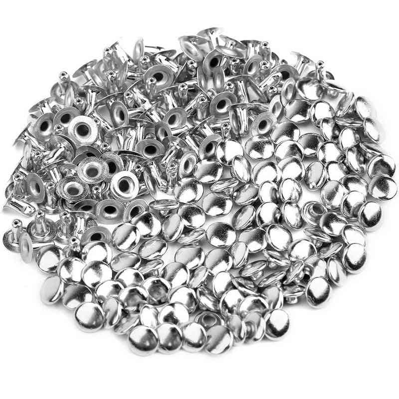 Round Metal Rivets - Handmade Diy Clothes Shoes Crafts