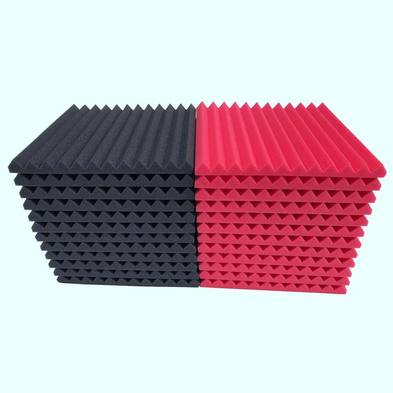 12 Pcs Of Tiles Shaped Acoustic Panels - Soundproofing Foam