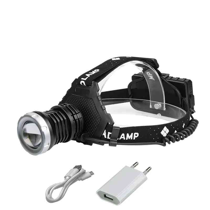 High Power Head Lamp Torch With Led Bulb And Telescopic Zoom