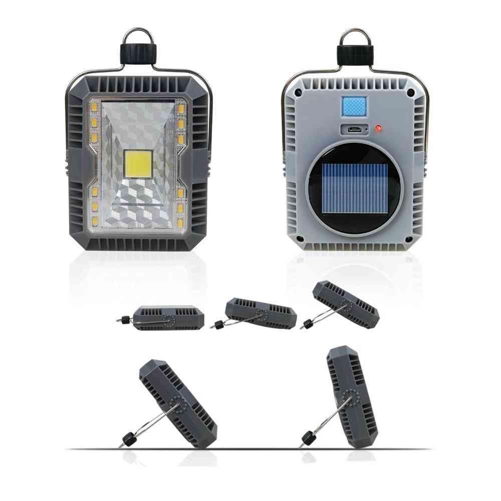 Outdoor Portable Hanging Lamp - Usb Solar Charging Flashlight