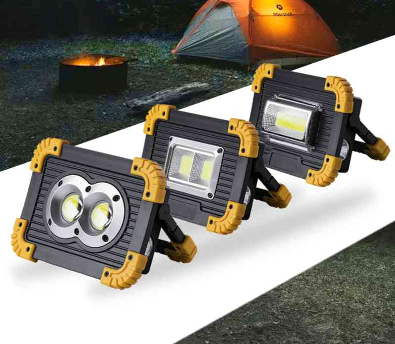 Portable Spotlight 18650 Battery -with Rechargeable Led Flashlight