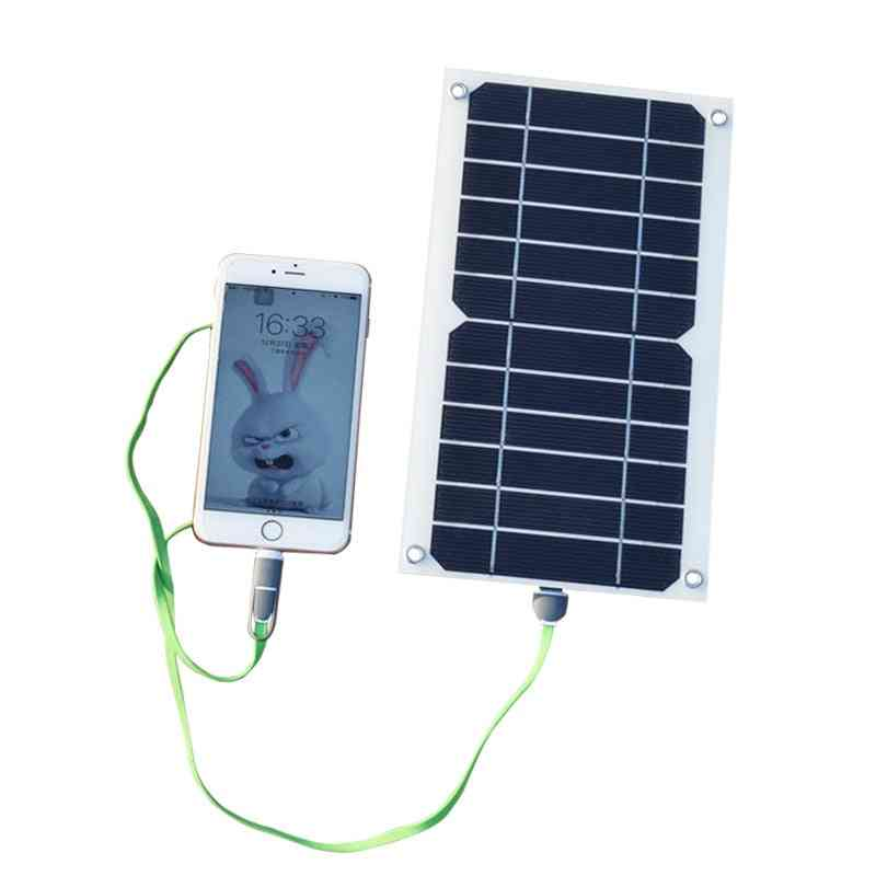 Solar Panel, Semi Flexible Cell Usb Output Charger With Voltage Regulator