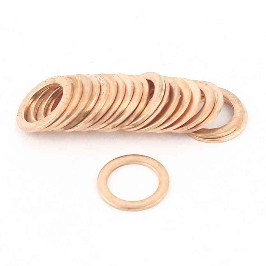 20 Pcs  Copper Washer Seal- Spacer For Piping Electronics