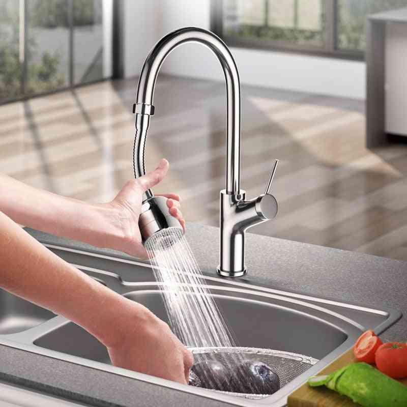 360-degree Swivel Bubbler, Adjustable Dual-mode Sprayer Filter, Water Saving Nozzle Faucet