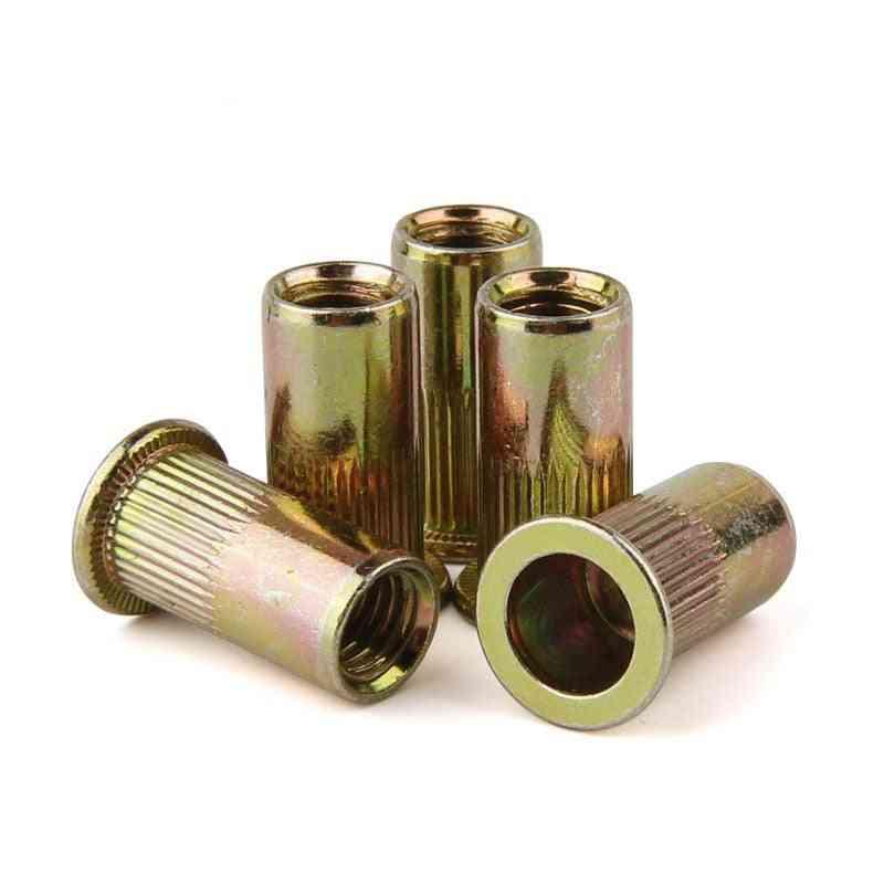 Carbon Steel, Flat Head Rivet Nut-threaded Blind Insert Screw