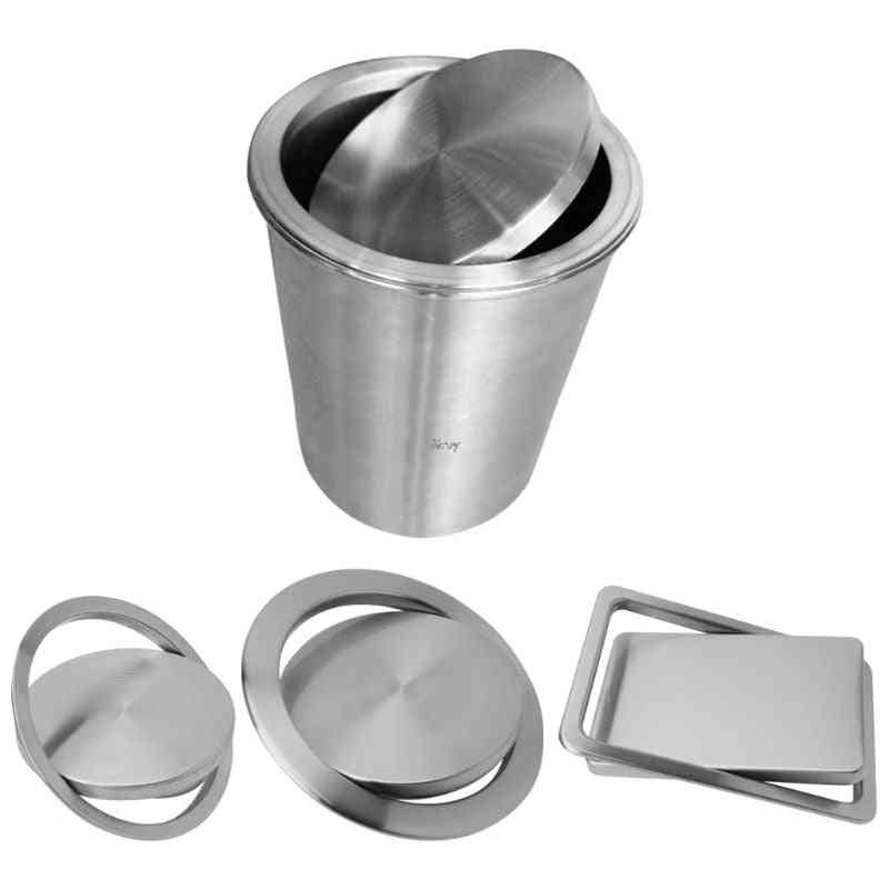 Stainless Steel Flush Recessed Built-in Balance Swing Flap Lid Cover