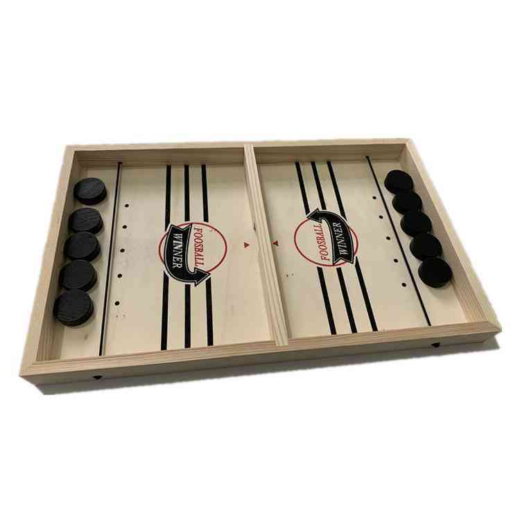 Foosball, Table And Hockey Game Catapult Chess Parent - Puck Board For