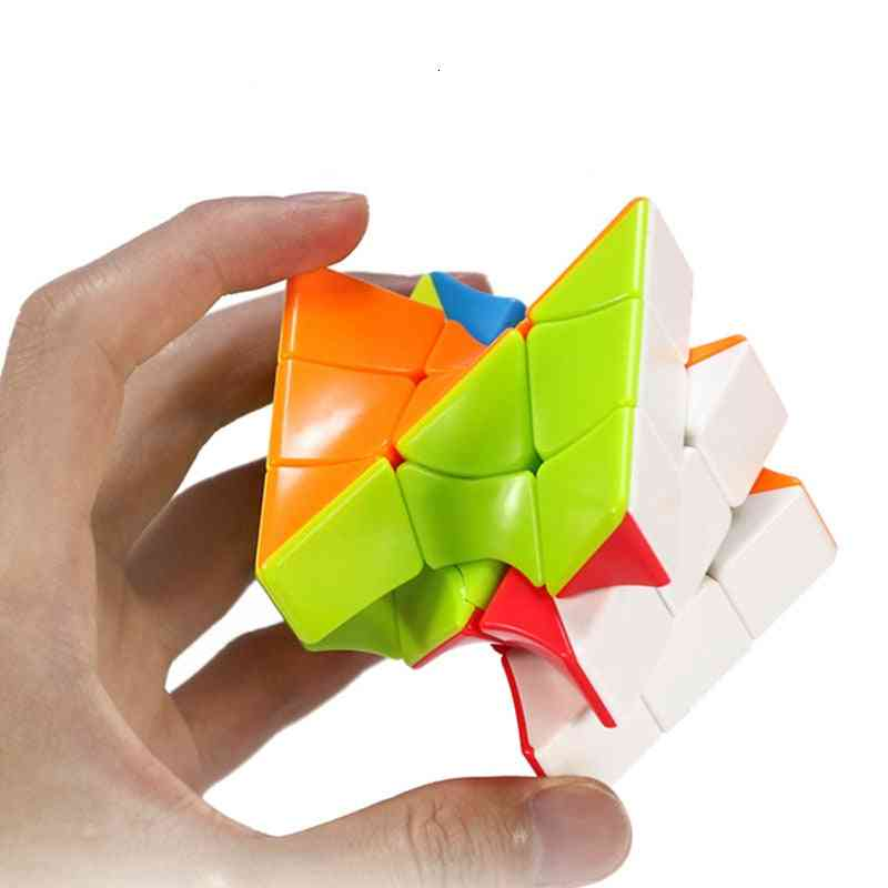 Colorful Twisted Cube- Puzzle Finger